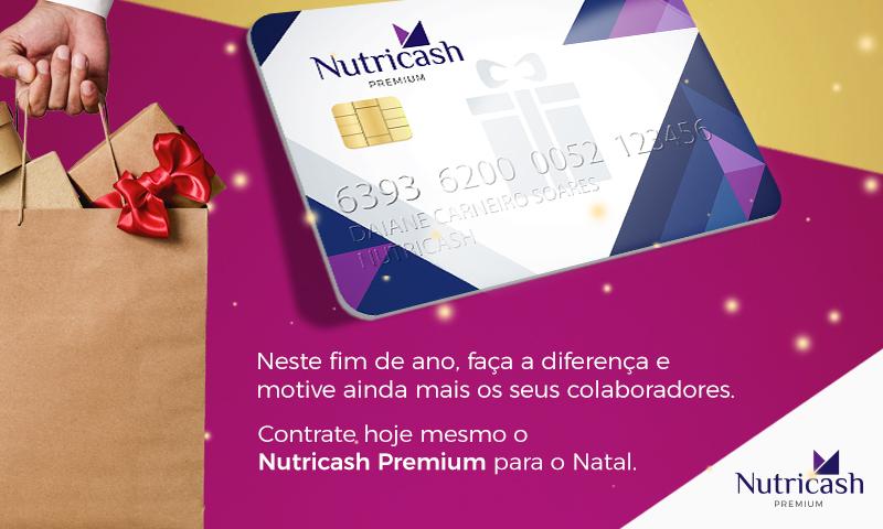 No Natal, presenteie seus colaboradores com o Nutricash Premium.